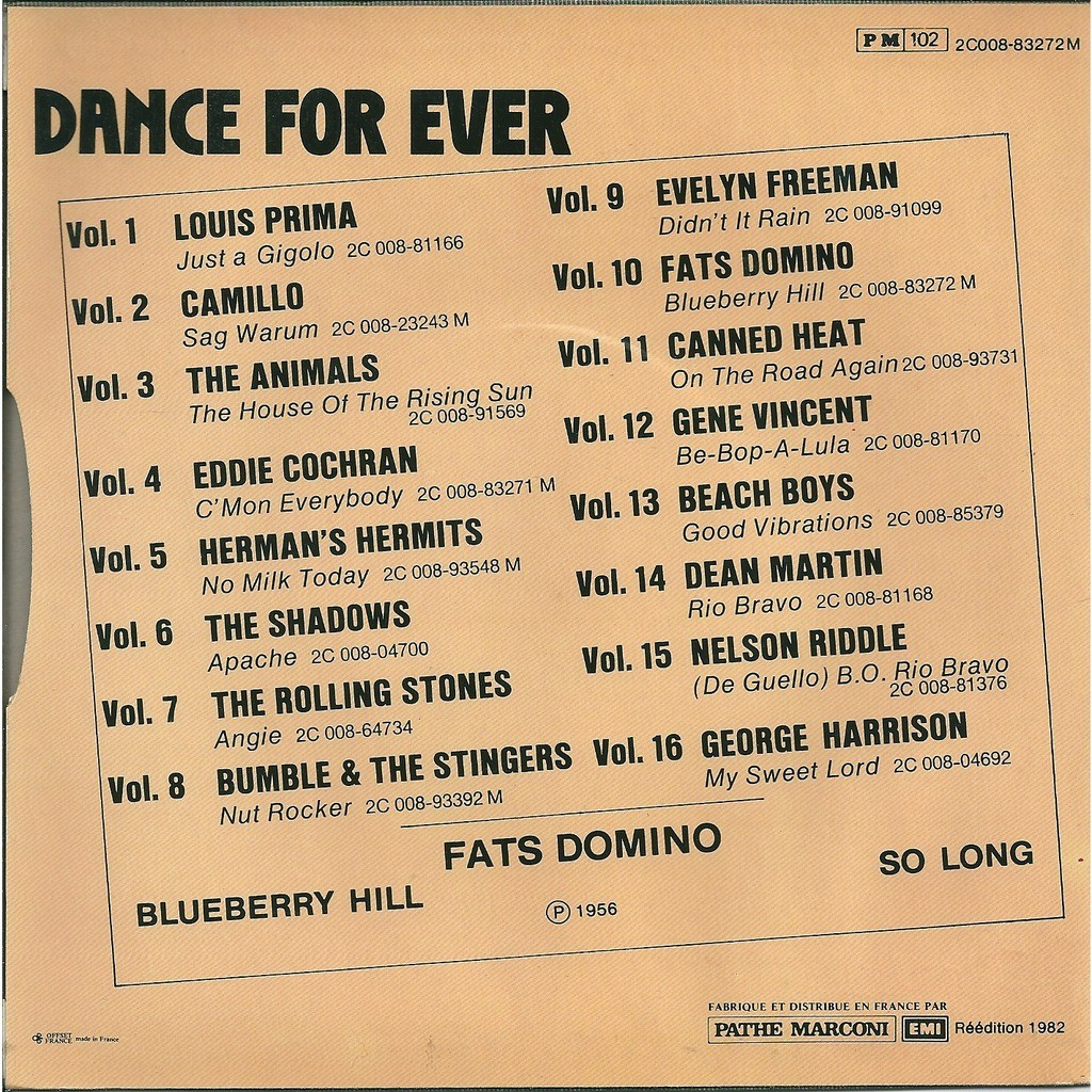Fats Domino Blue Berry hill - Blueberry hill