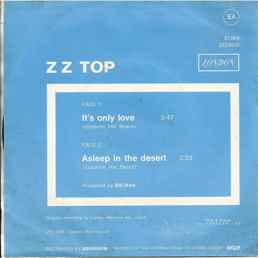 ZZ Top It's only love