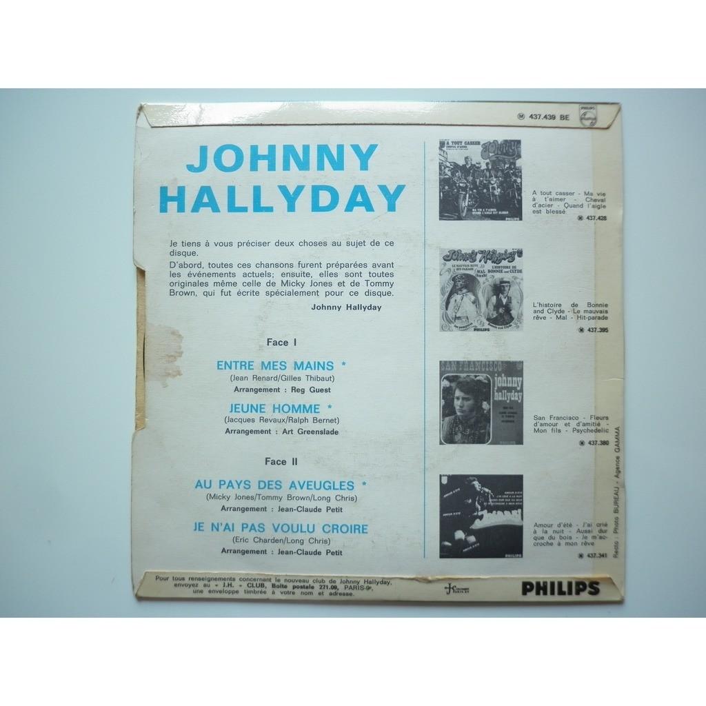 Johnny Hallyday Entre Mes Mains / Jeune Homme