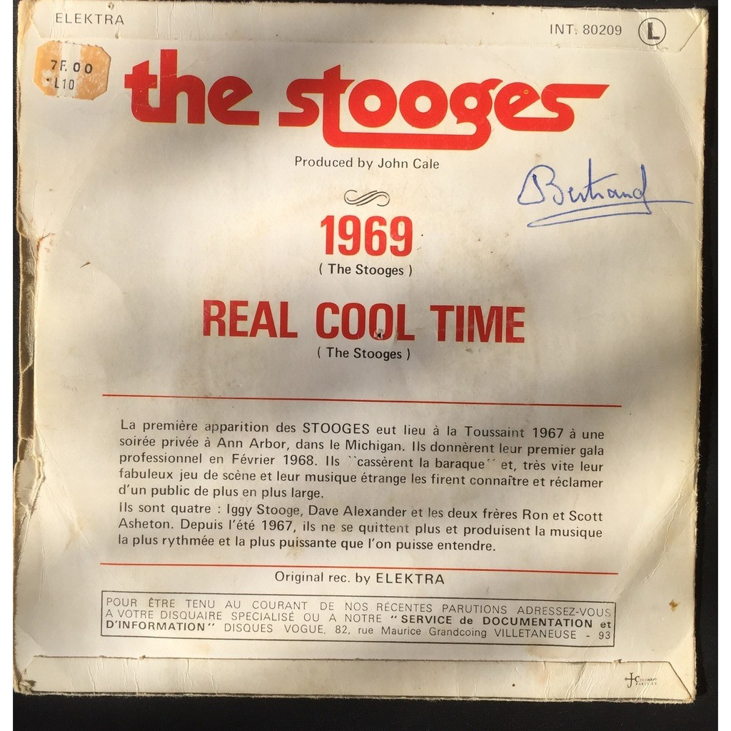 The Stooges 1969 / Real Cool Time