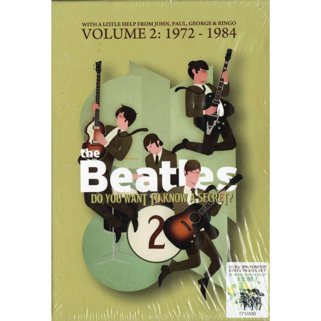 Beatles Do You Want To know A Secret? Vol.2 (1972-1984) (Ltd 400 copies 12CD+3DVD box+booklet!)