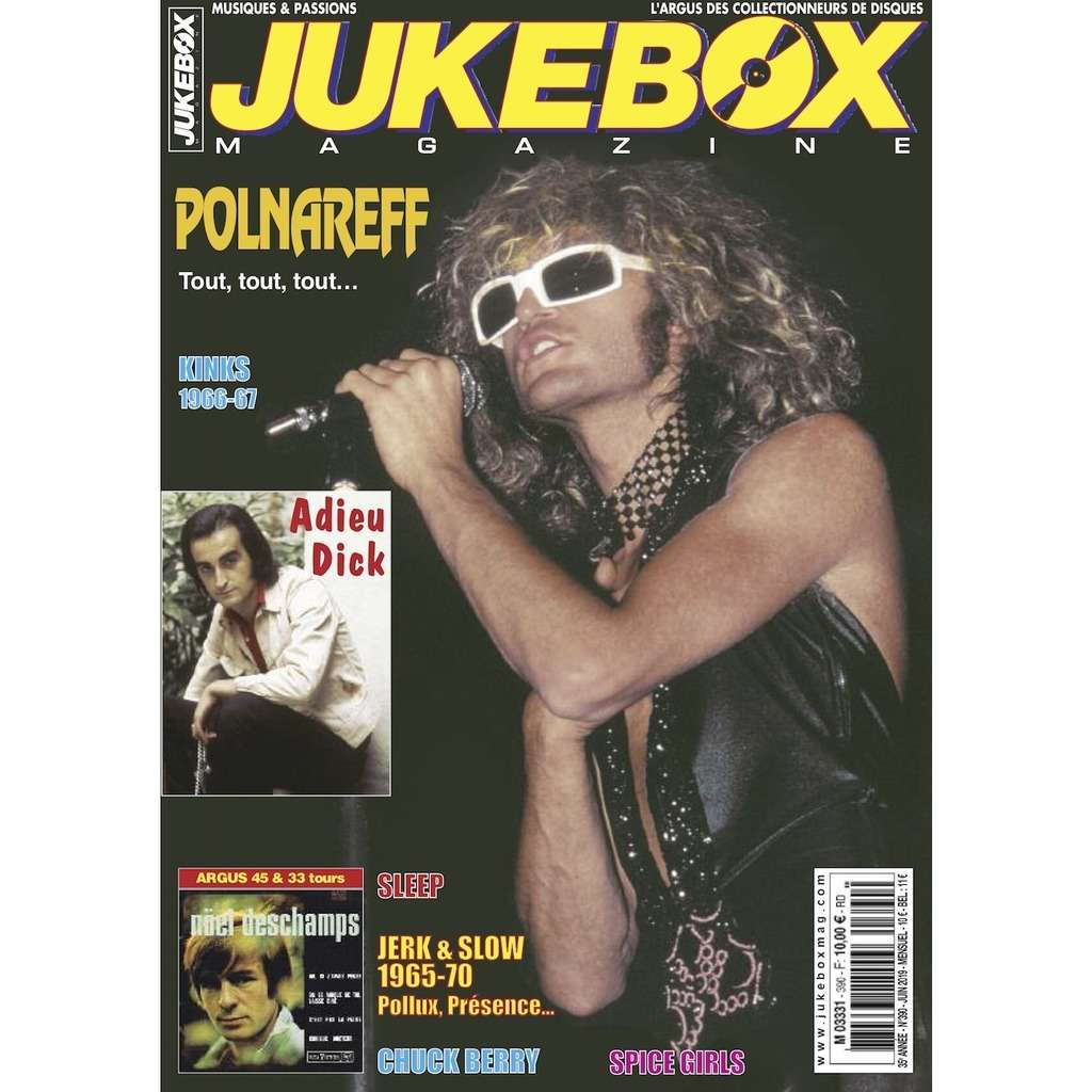N°390 (JUIN 2019) MICHEL POLNAREFF / DICK RIVERS MAGAZINE - JUKEBOXMAG.COM
