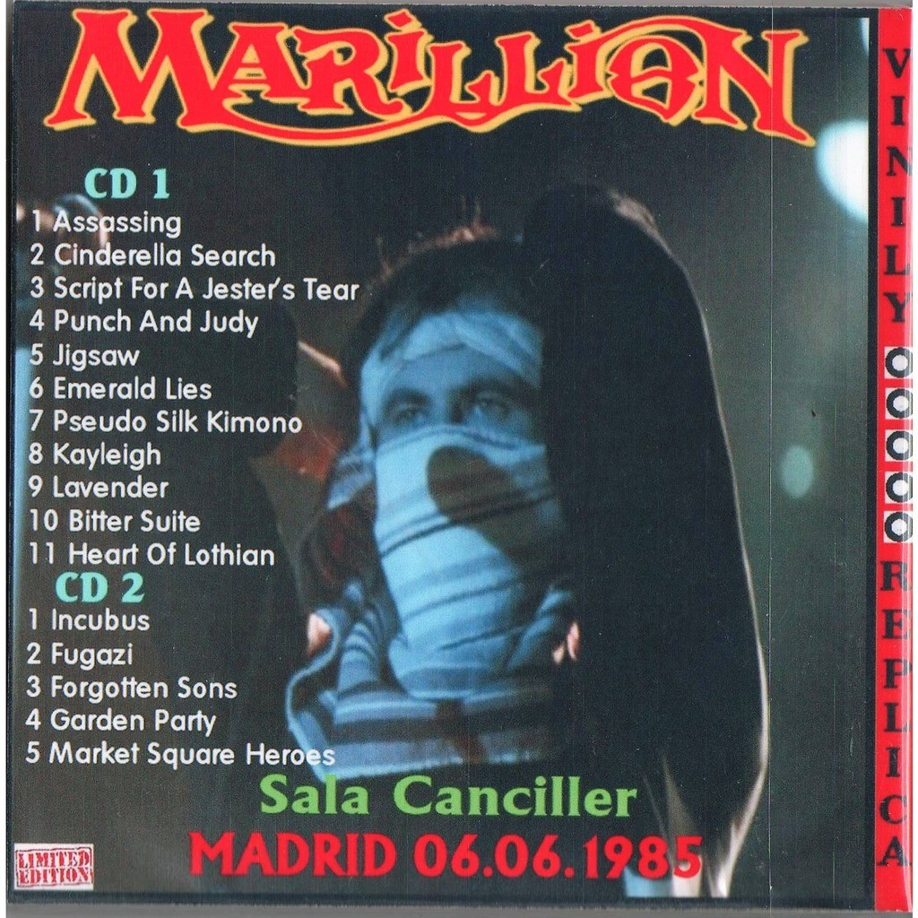 Marillion Live At 'Sala Canciller' (Madrid ES 06.06.1985)