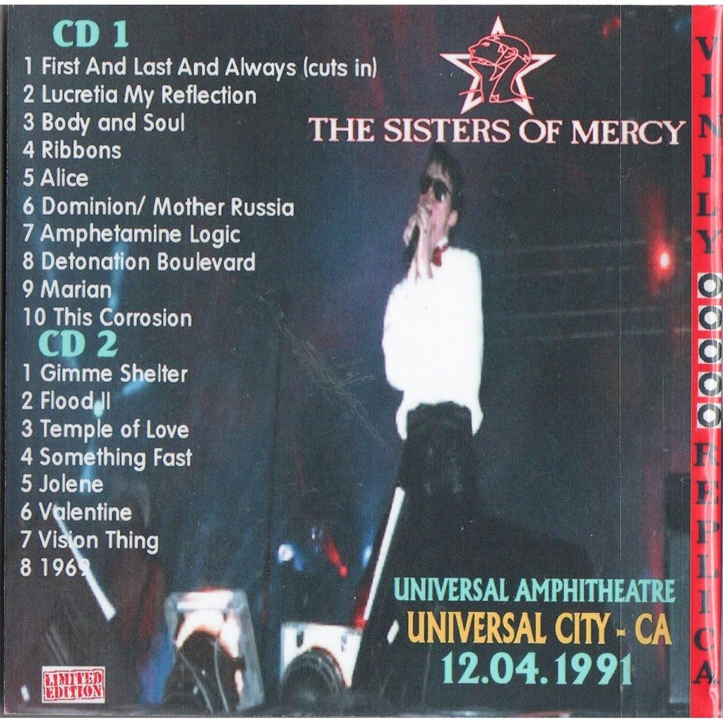The Sisters Of Mercy Live At 'Universal Amphitheatre' (Universal City CA USA 12.04.1991)