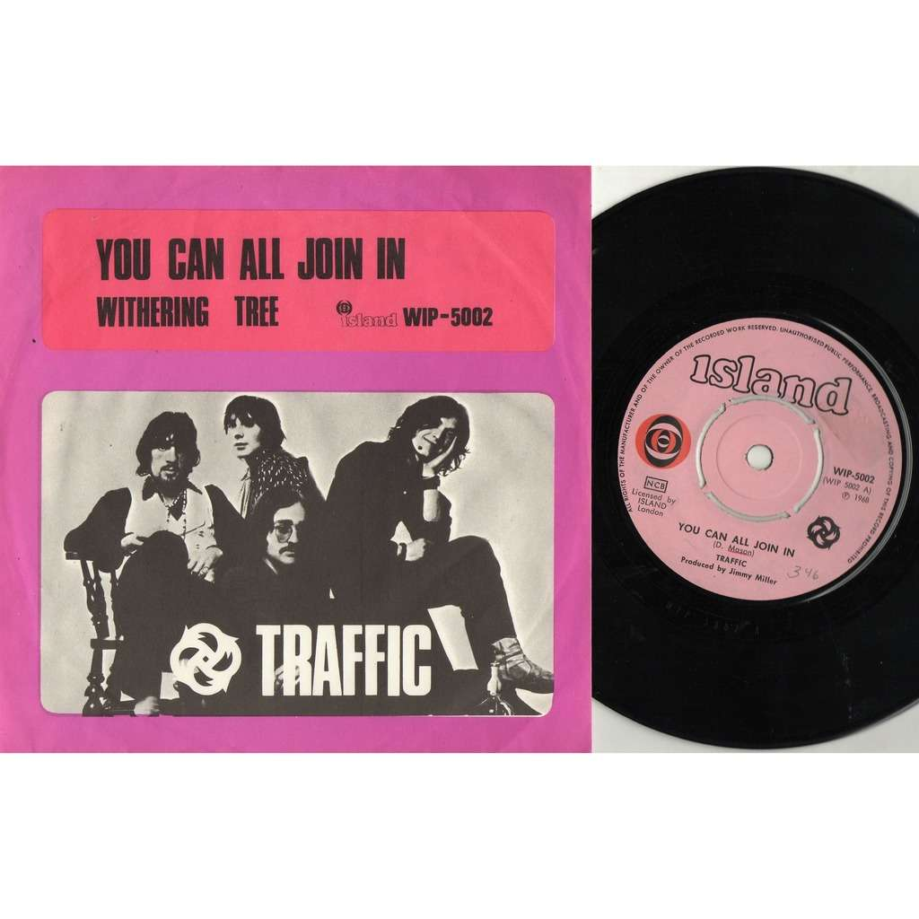 Traffic You Can All Join In (Swedish 1968 original 2-trk 7single unique ps)