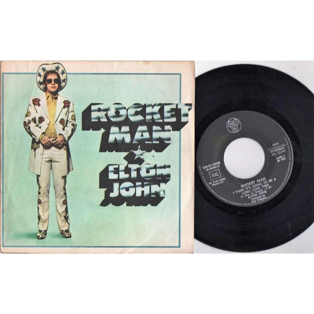 Elton John Rocket Man (Italian 1972 original 2-trk 7single unique gf ps)