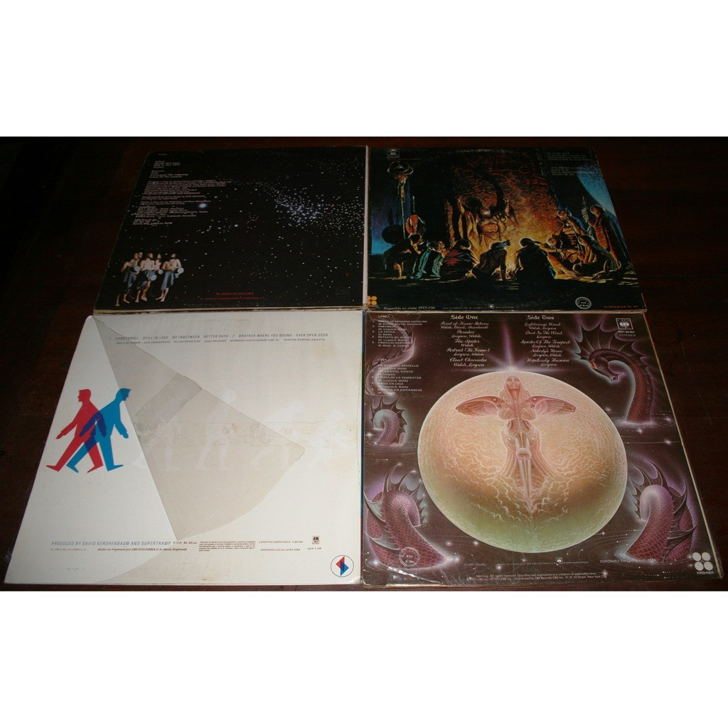 KANSAS/ SUPERTRAMP PRINT OF KNOW RETURN/ MONOLITH/ BROTHER WHER YOU BOUND/ CRIME OF THE CENTURY