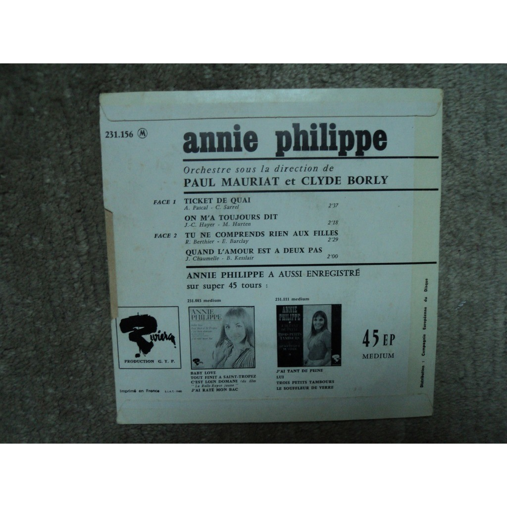 annie philippe ticket de quai +3