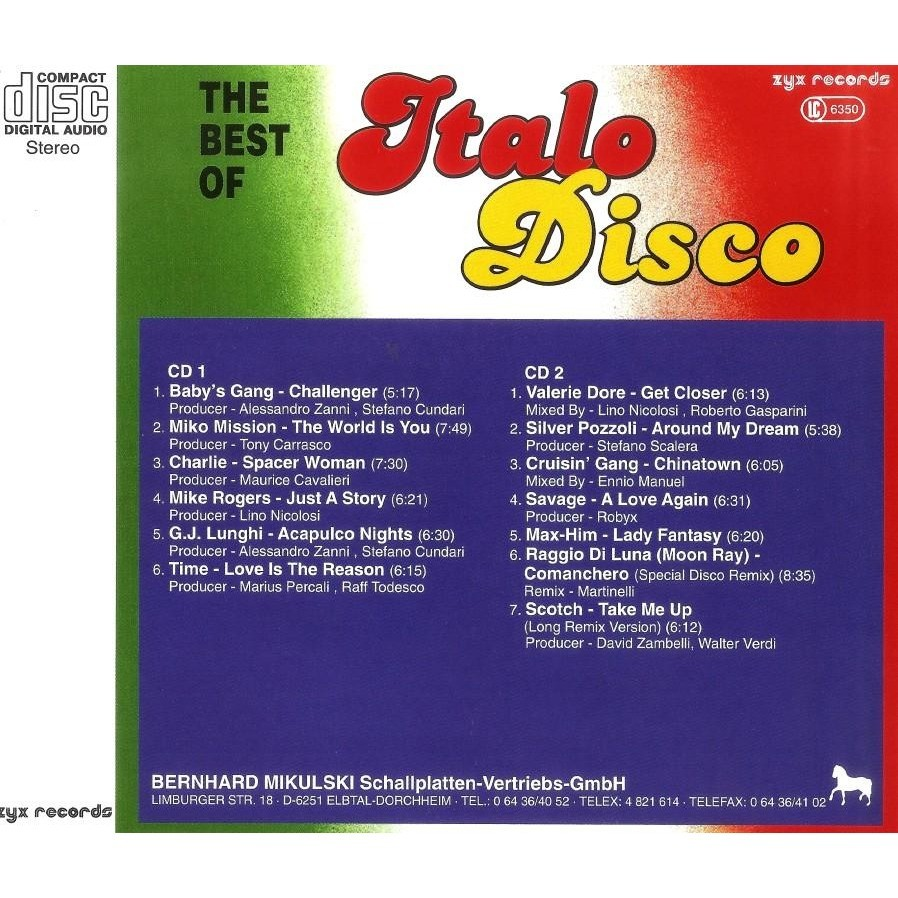 Italo Disco Vol.3 The Best Of 2 CD Worldwide Free Shipping