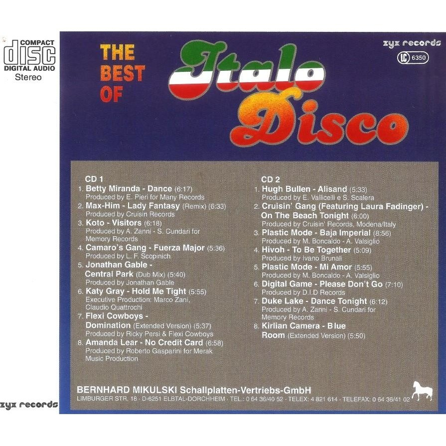 Italo Disco Vol.4 The Best Of 2 CD Worldwide Free Shipping