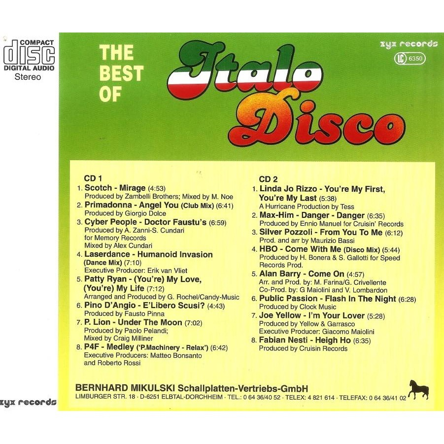 Italo Disco Vol.6 The Best Of 2 CD Worldwide Free Shipping