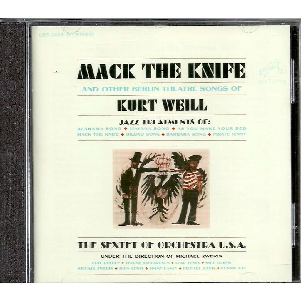 the sextet of orchestra usa mack the knife and other berlin Theatre songs of Kurt Weill (feat. Eric Dolphy)