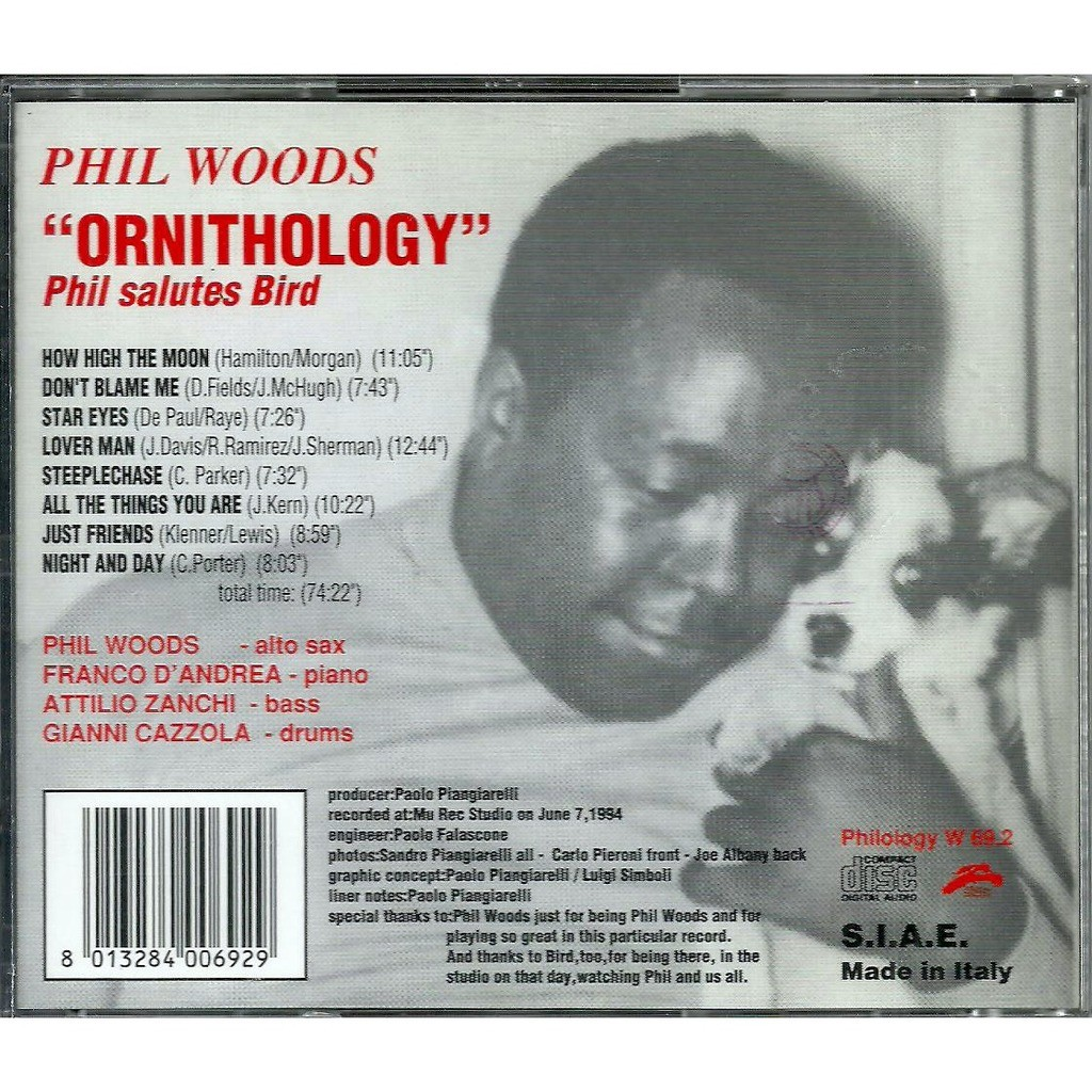 phil woods ornthology - phil salutes bird