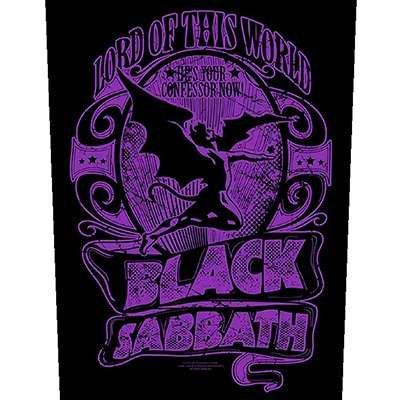 BLACK SABBATH Lord of This World BACKPATCH