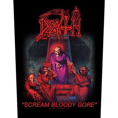 DEATH Scream Bloody Gore BACKPATCH