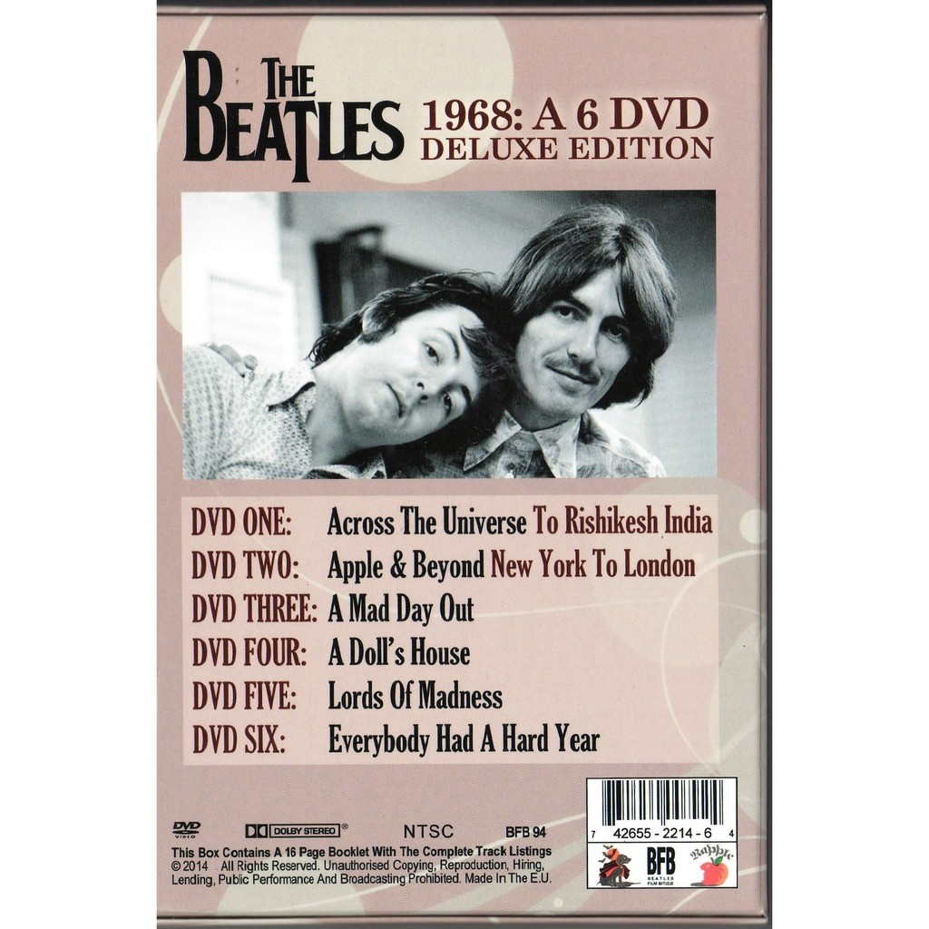 Beatles 1968: A 6DVD Deluxe Edition (Ltd 400 No'd Copies 6DVD Box + booklet!)