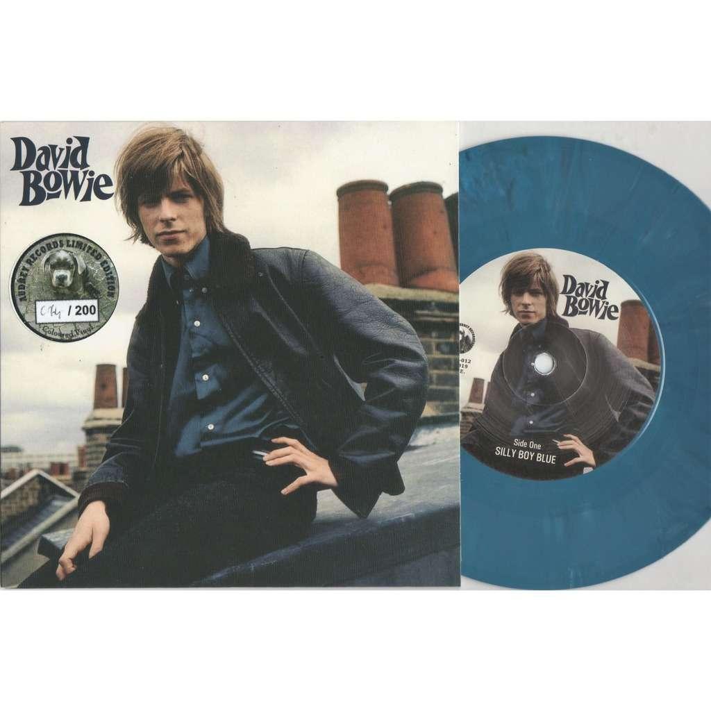 David Bowie Silly Boy Blue (Euro Ltd 200 no'd copies demos 2-trk 7single blu Coloured wax unique ps)
