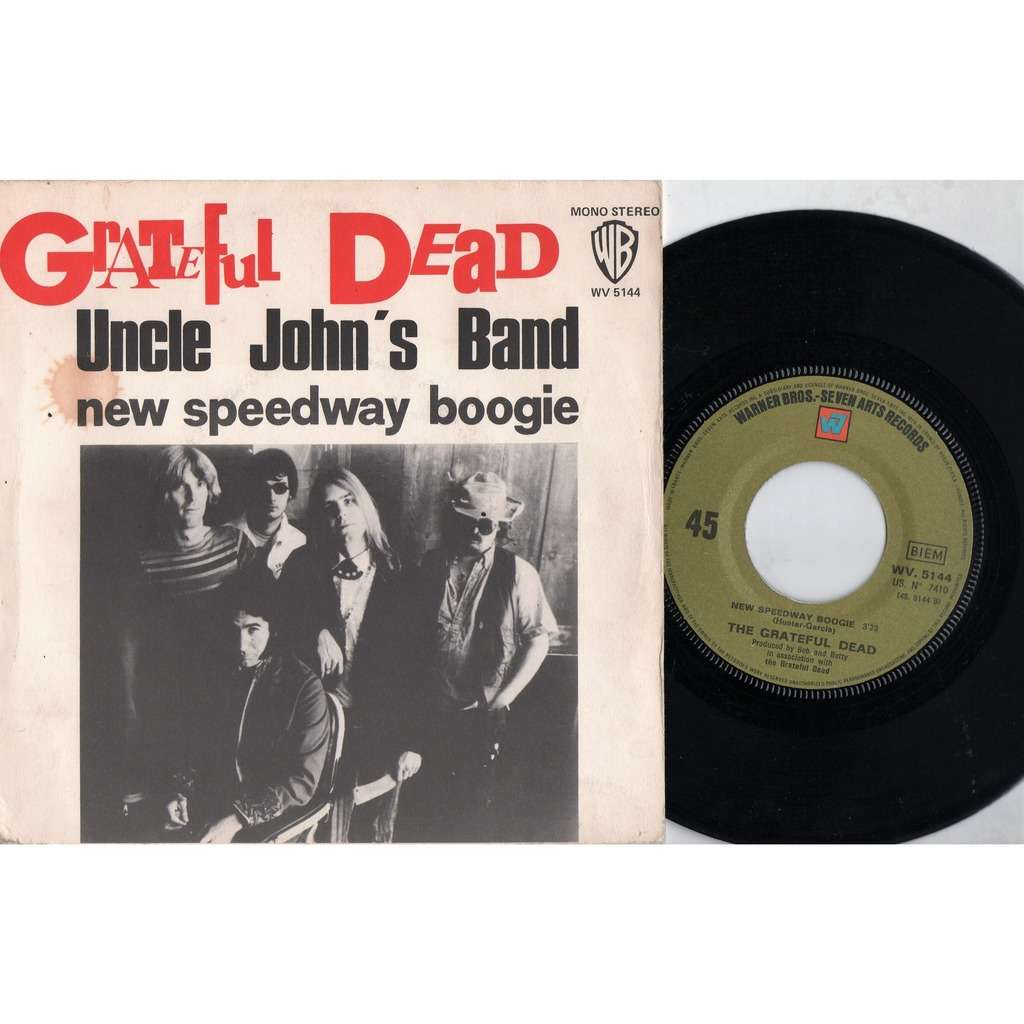 Grateful Dead Uncle John's Band (French 1970 original 2-trk 7single on WB lbl unique ps)
