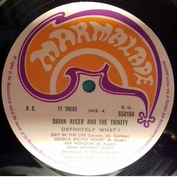 Brian Auger & The Trinity Definitely What! (ORIGINAL 1ST FRENCH)