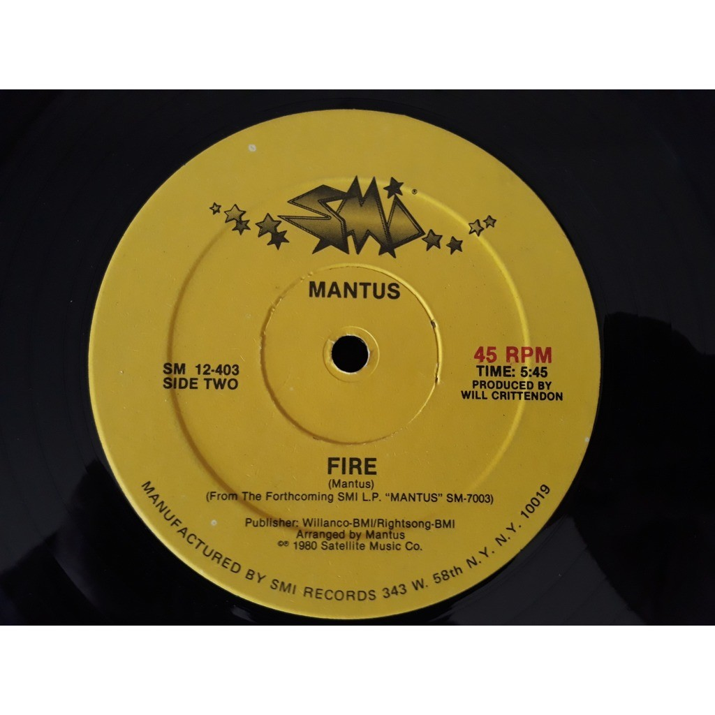 Mantus - Love is a natural thing / fire Mantus - Love is a natural thing / fire