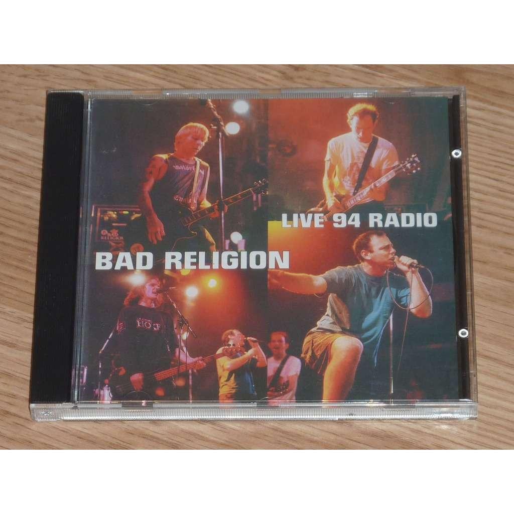 BAD RELIGION LIVE 94 RADIO CD