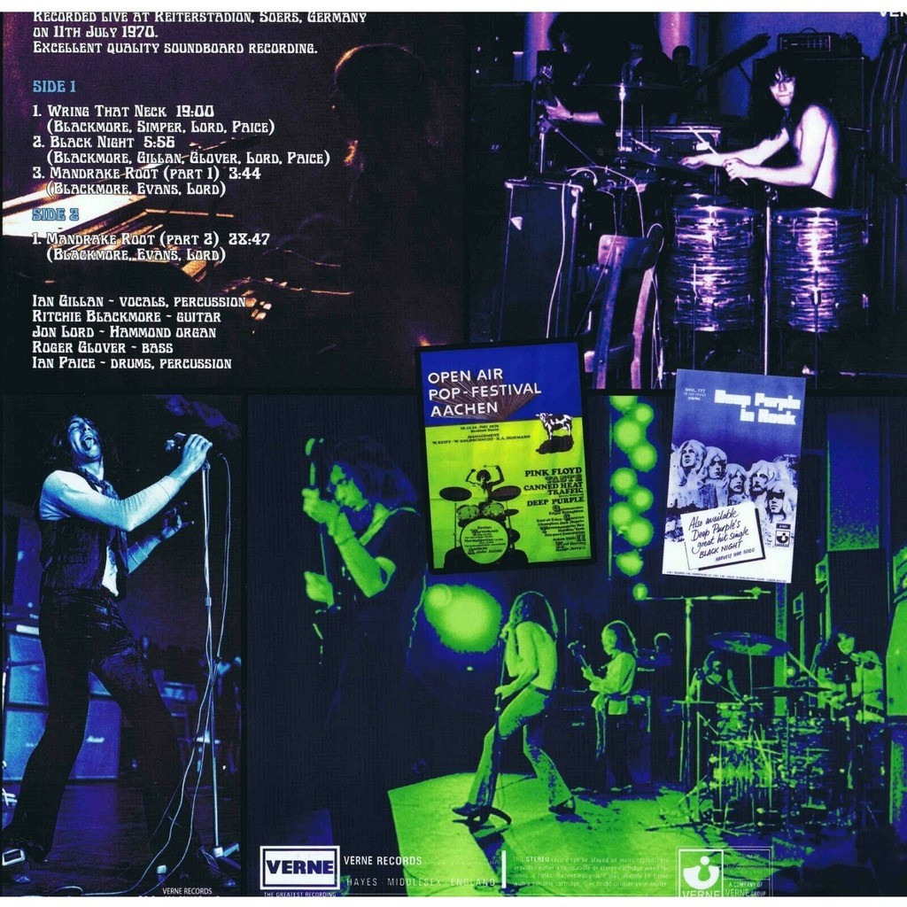 Deep Purple Live In Aachen 1970 (lp)