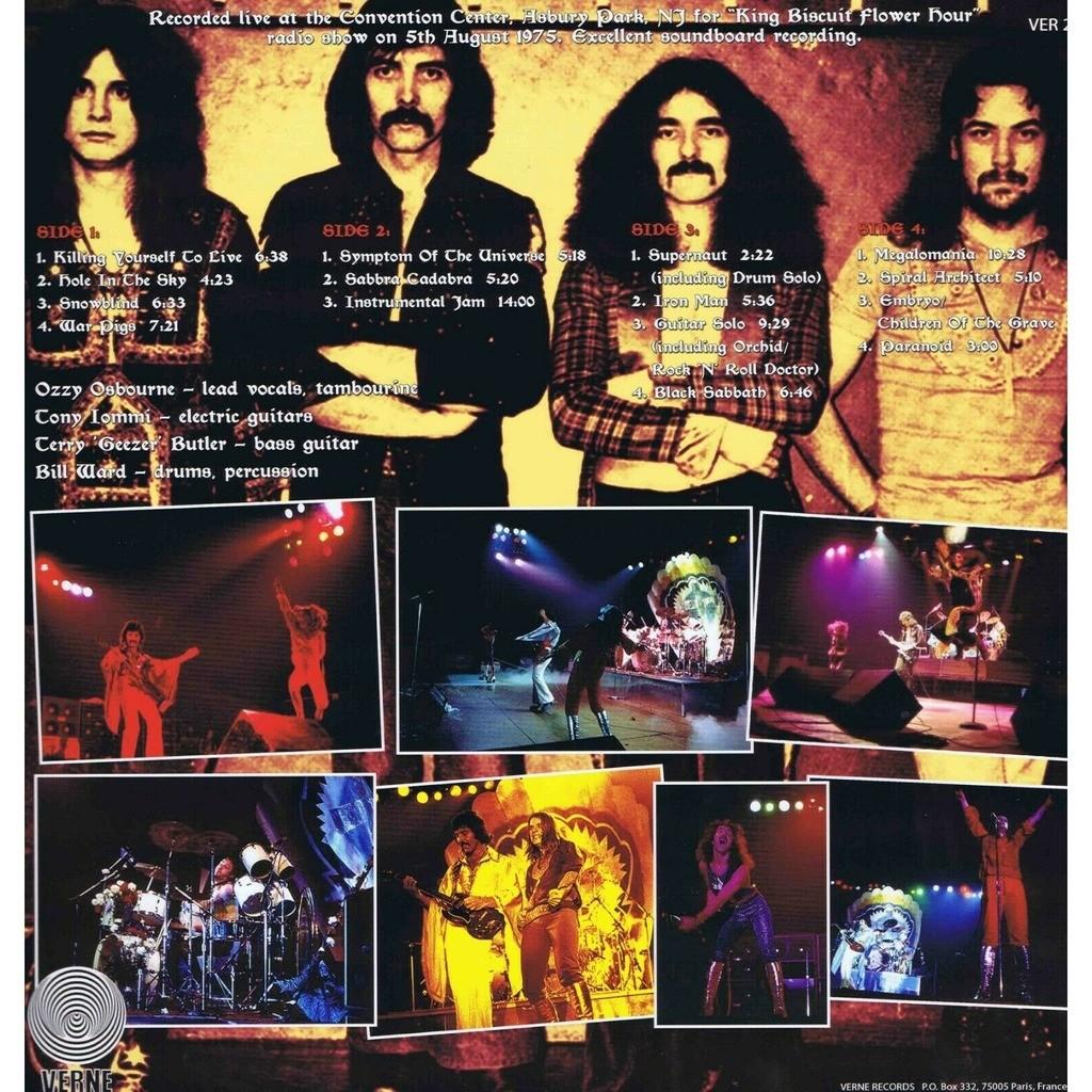 Black Sabbath Live In Asbury Park 1975 (2xlp)