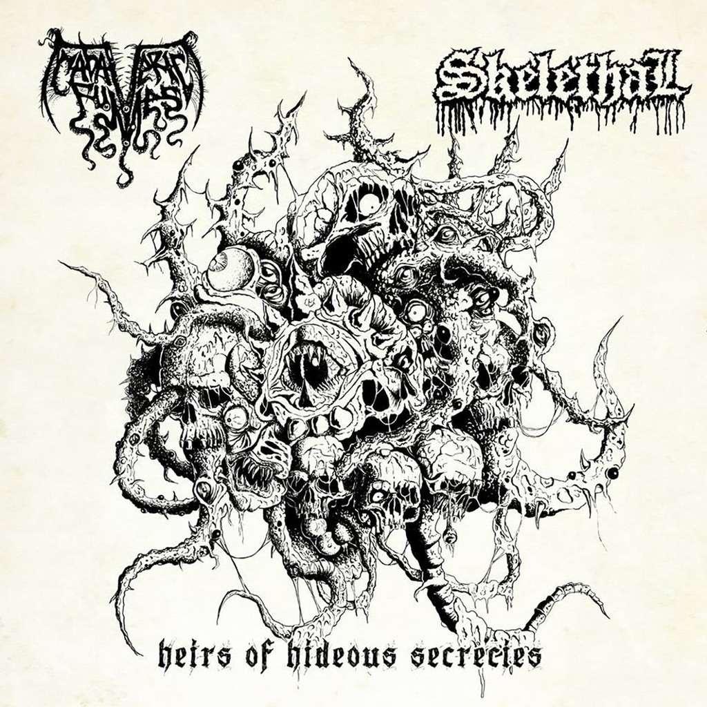 SKELETHAL / CADAVERIC FUMES Heirs Of Hideous Secrecies. Splatter Vinyl