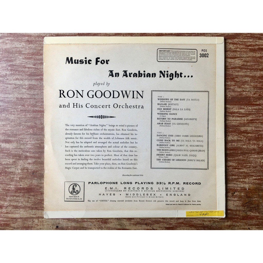 Ron Goodwin & His Concert Orchestra Ron Goodwin And His Concert Orchestra - Music For An Arabian Night