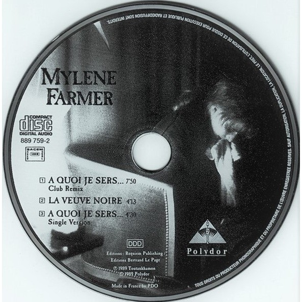Mylene Farmer A Quoi Je Sers...(Club Remix + Single Version) / La Veuve Noire