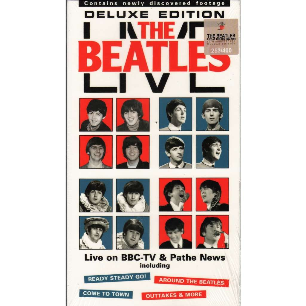 Beatles Live On BBC - TV & Pathe News (Recorded Live In 1963 & 1964) (Ltd 400 no'd copies 4DVD box+booklet!)