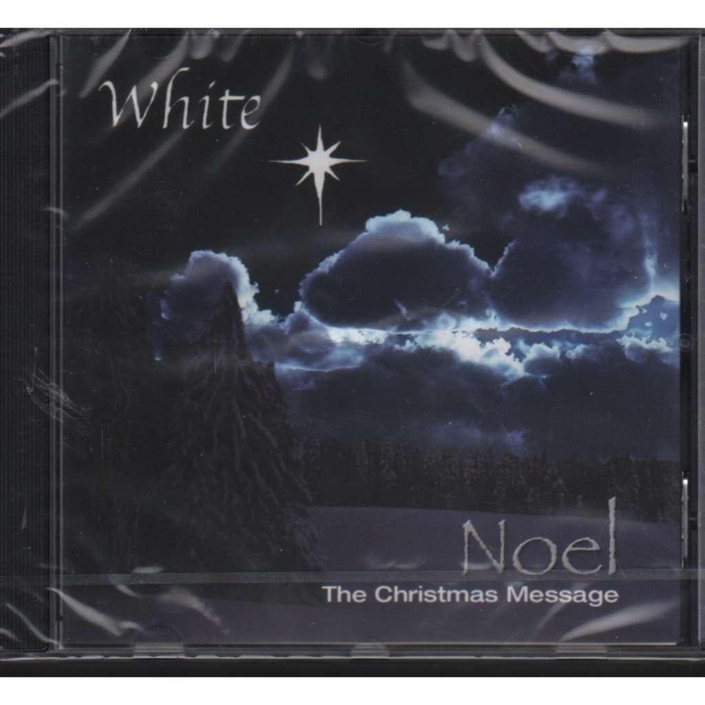 White Noel the christmas message