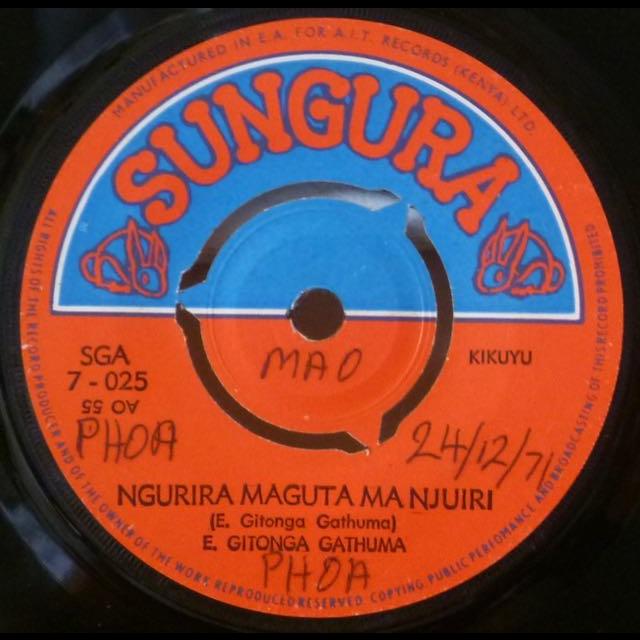 E. GITONGA GATHUMA Ngurira maguta manjuiri / Wihithe niukurio
