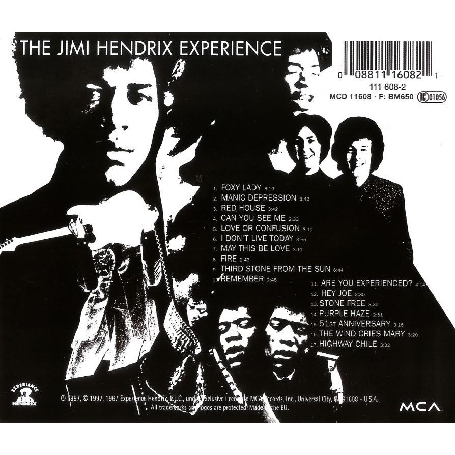 The Jimi Hendrix Experience Are You Experienced? CD Worldwide Free Shipping