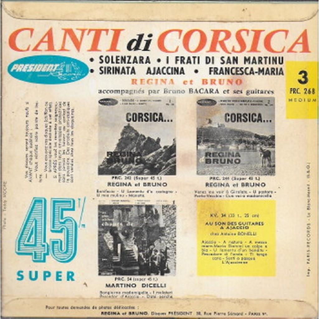 REGINA et BRUNO 3 - Canti di Corsica