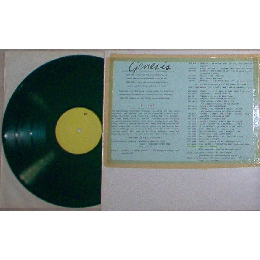 Genesis Mirrors (CHICAGO - TRANSIT AUDITORIUM 06.02.1977) (Ltd 300 no'd copies LP GREEN wax inserts ps)