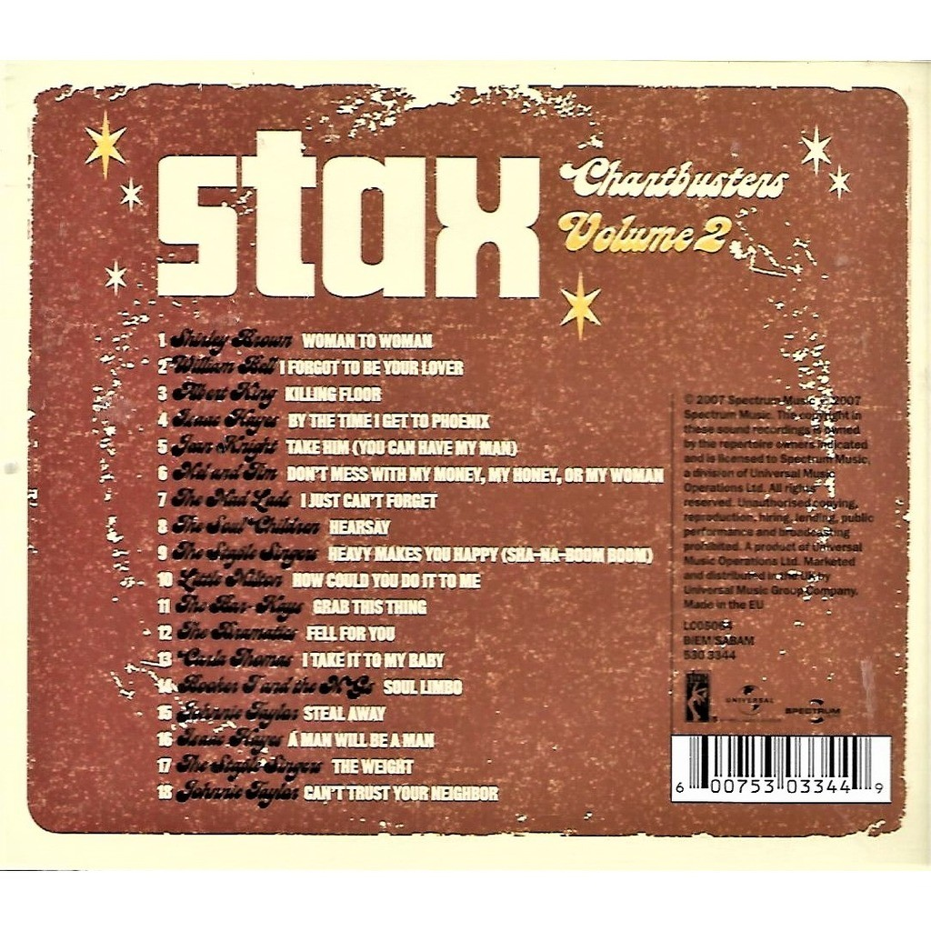 Shirley Brown, Isaac Hayes, William Bell, Bar-Kays Stax Chartbusters Volume 2