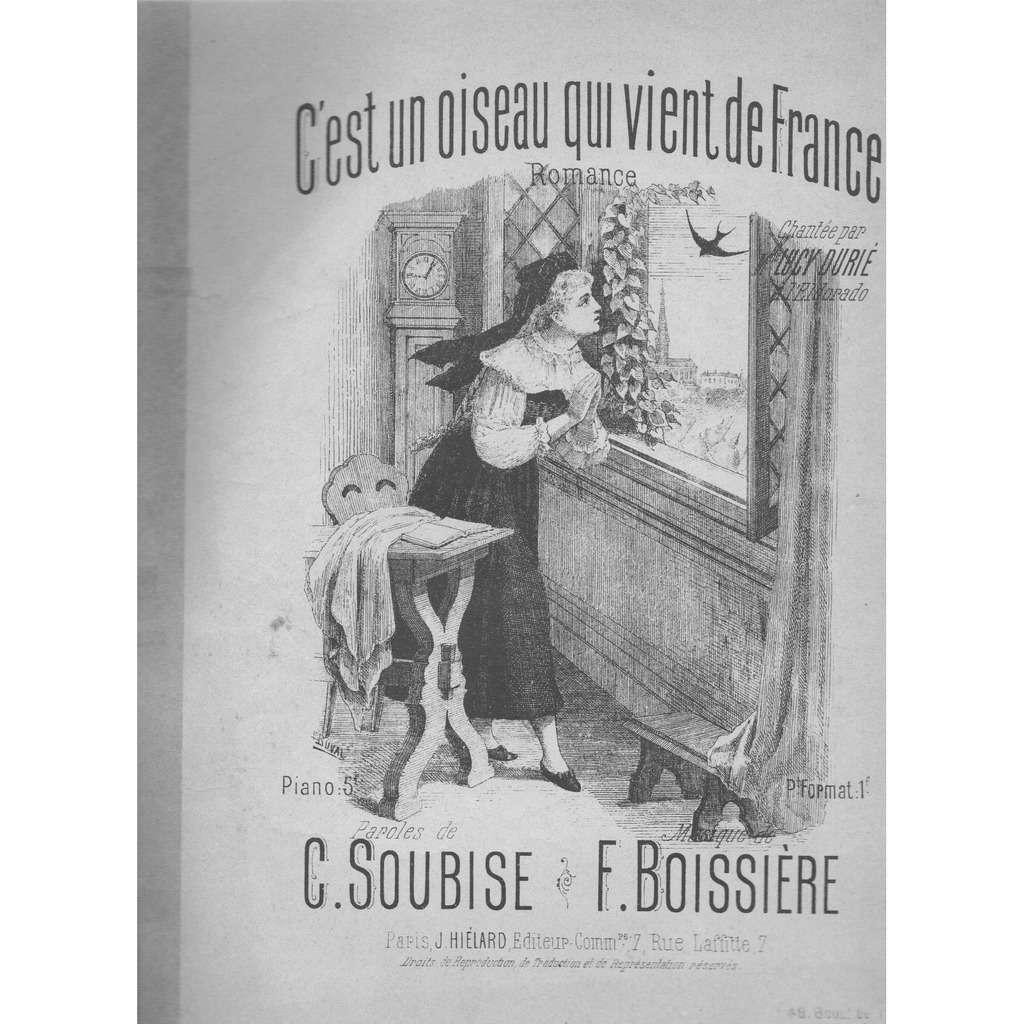 C.Soubise/F.Boissière c'est un oiseau qui vient de FRANCE.