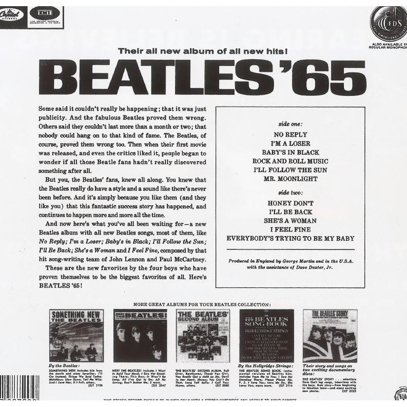 The Beatles Beatles '65 CD U.S. Albums Worldwide Free Shipping