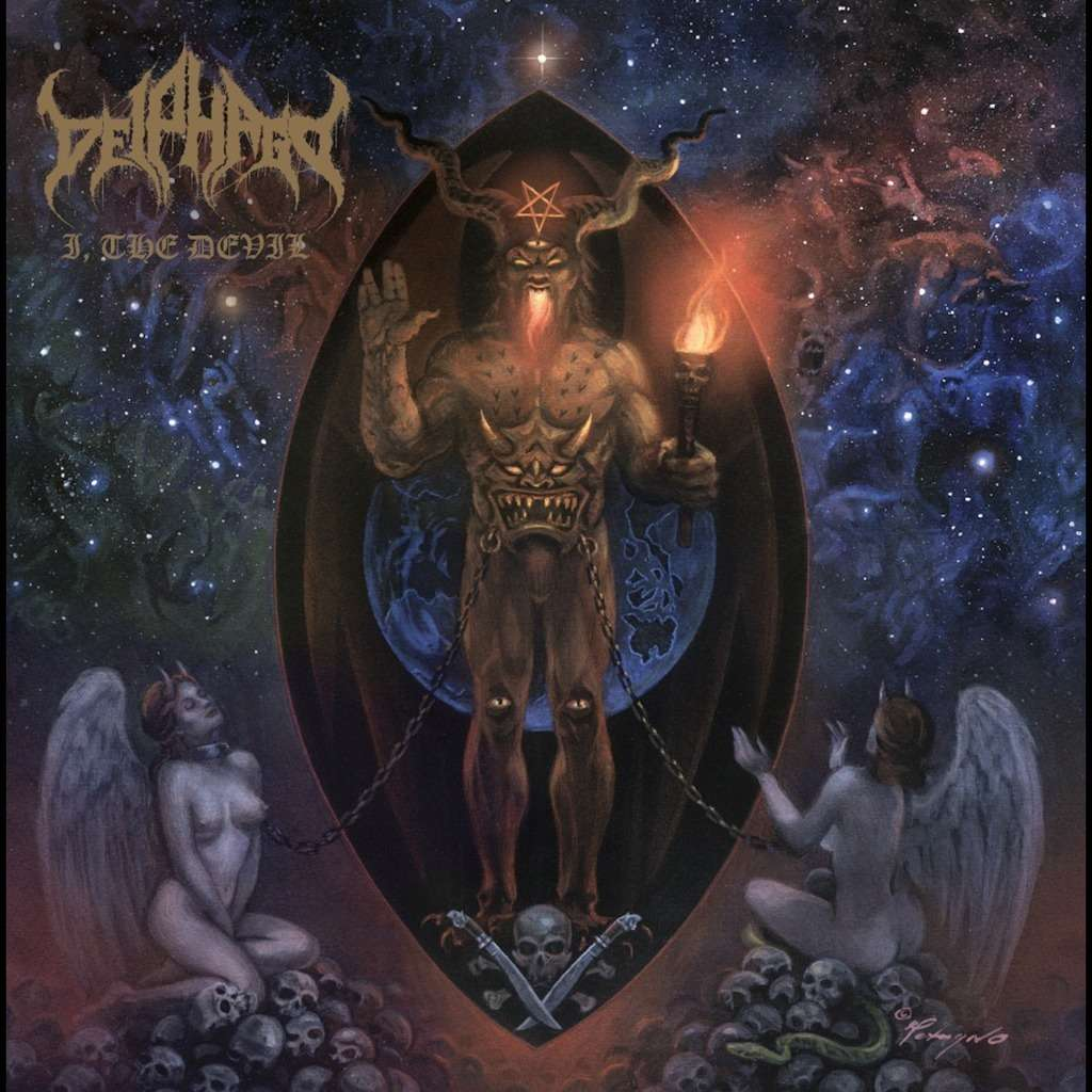DEIPHAGO I, The Devil. Blue & Gold Swirl Vinyl