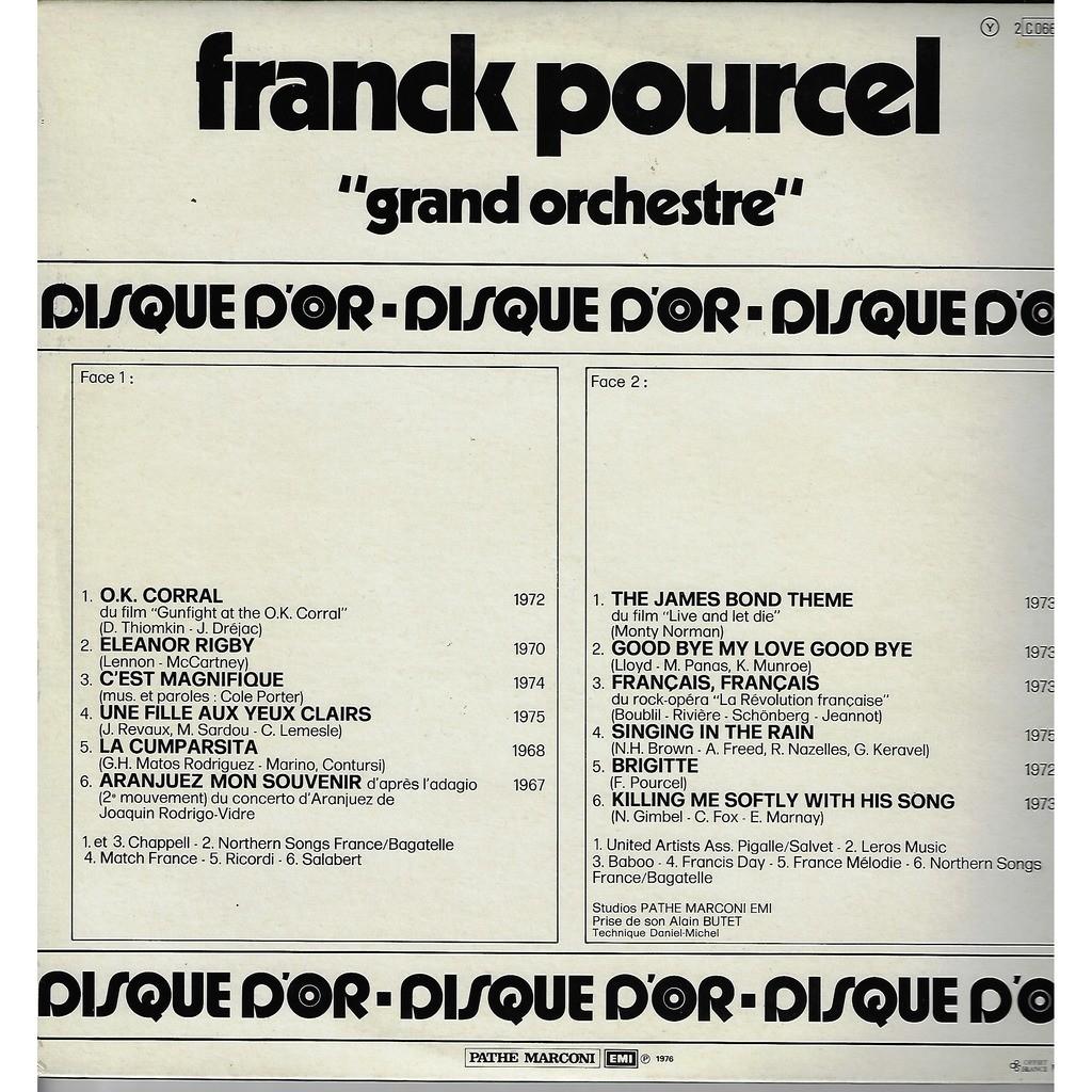 Pourcel Franck Disque d'Or / o.k. corral