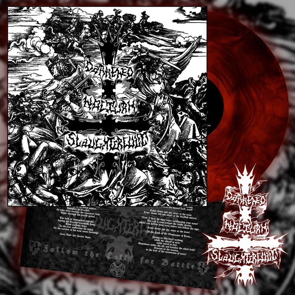 DARKENED NOCTURN SLAUGHTERCULT Follow The Call For Battle. Red Galaxy Vinyl