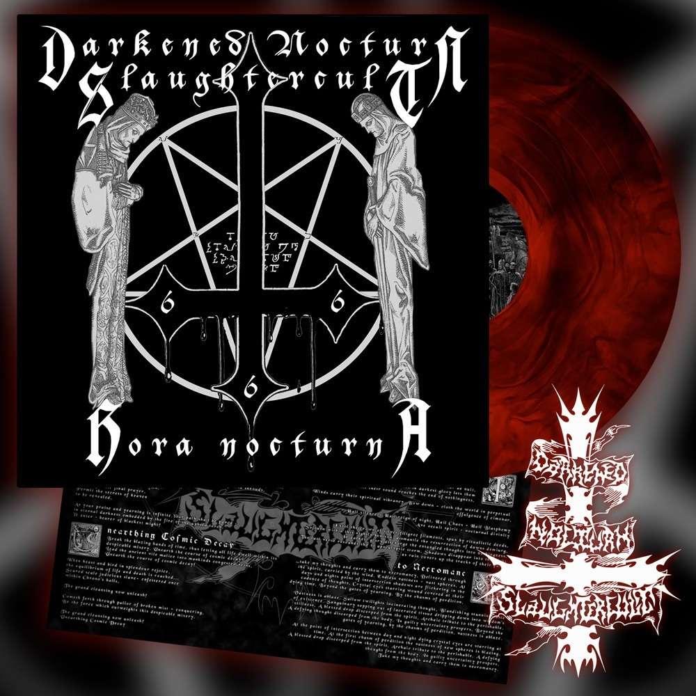 DARKENED NOCTURN SLAUGHTERCULT Hora Nocturna. Red Galaxy Vinyl