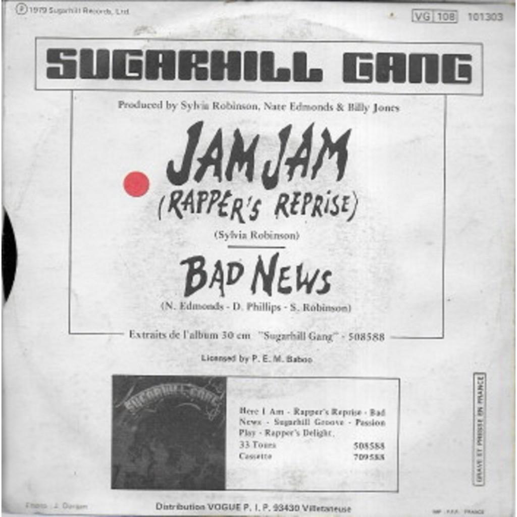 SUGARHILL GANG Jam jam - Bad news