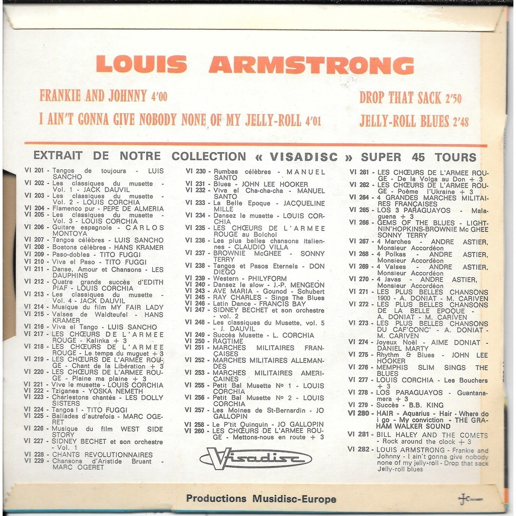 louis armstrong frankie and johnny