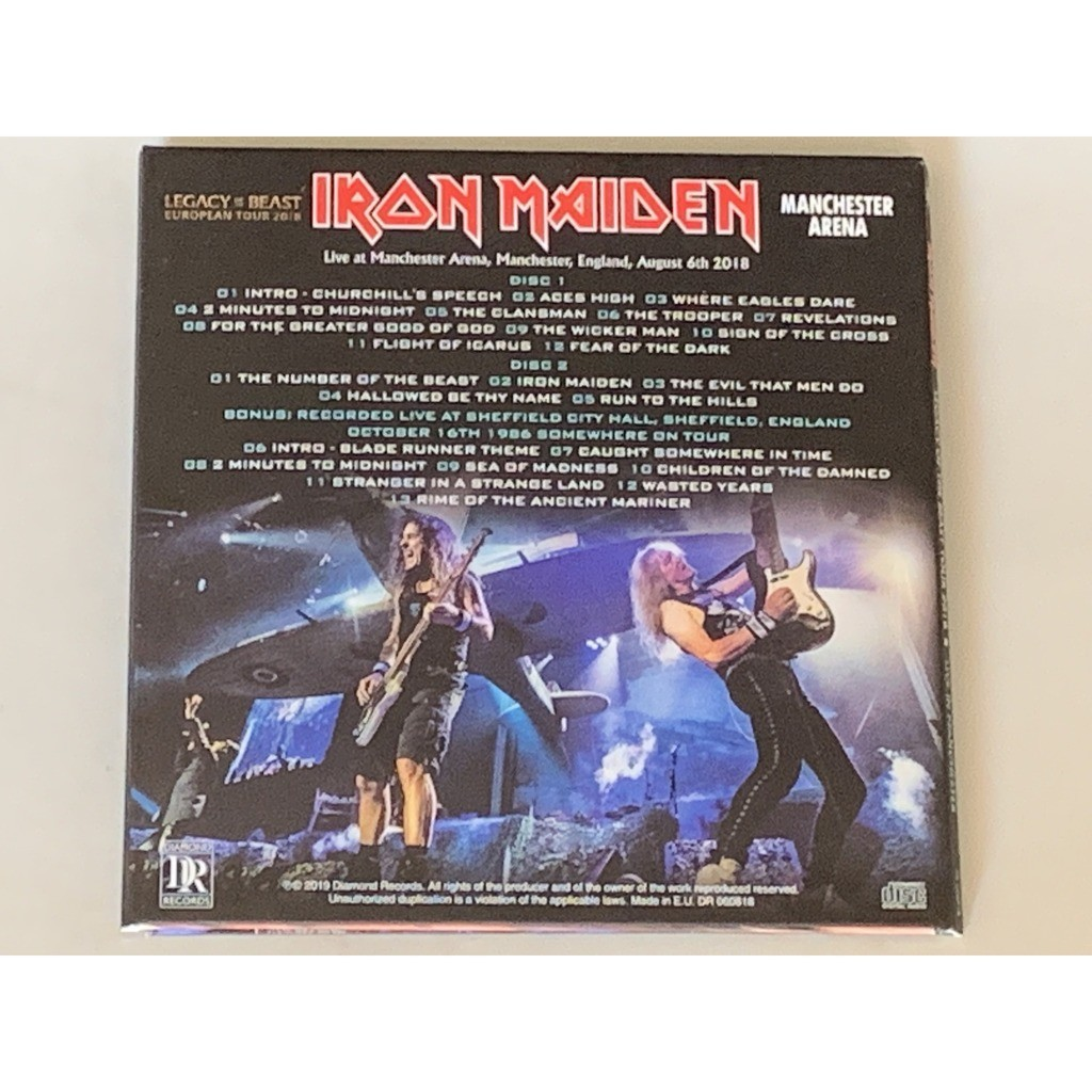 iron maiden LIVE IN MANCHESTER 2018