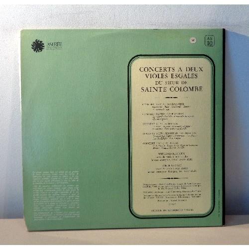 JORDI SAVALL & WIELAND KUIJKEN DE SAINT COLOMBE Concerts deux violes esgales