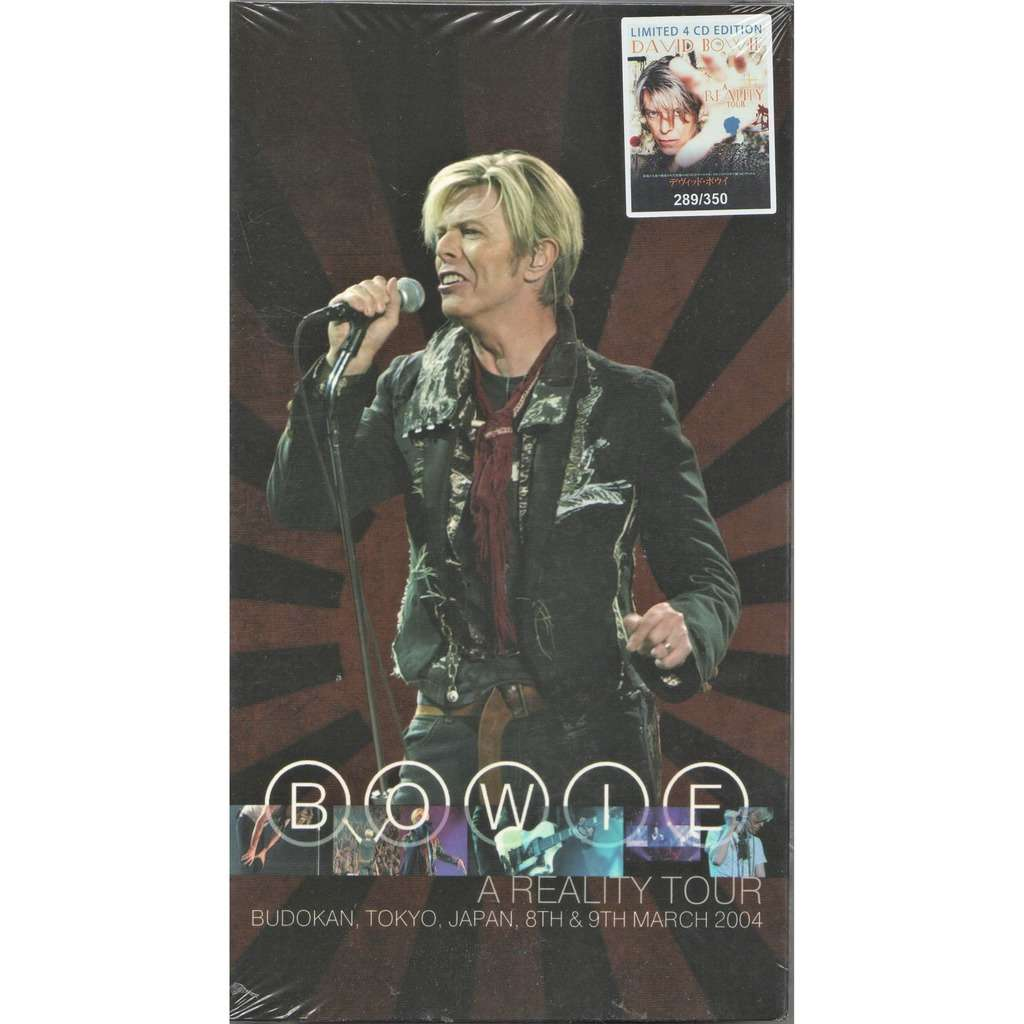 David Bowie A Reality Tour (Budokan Tokyo Japan 08 & 09.03.2004) (Ltd 350 no'd copies 4CD box+booklet!)