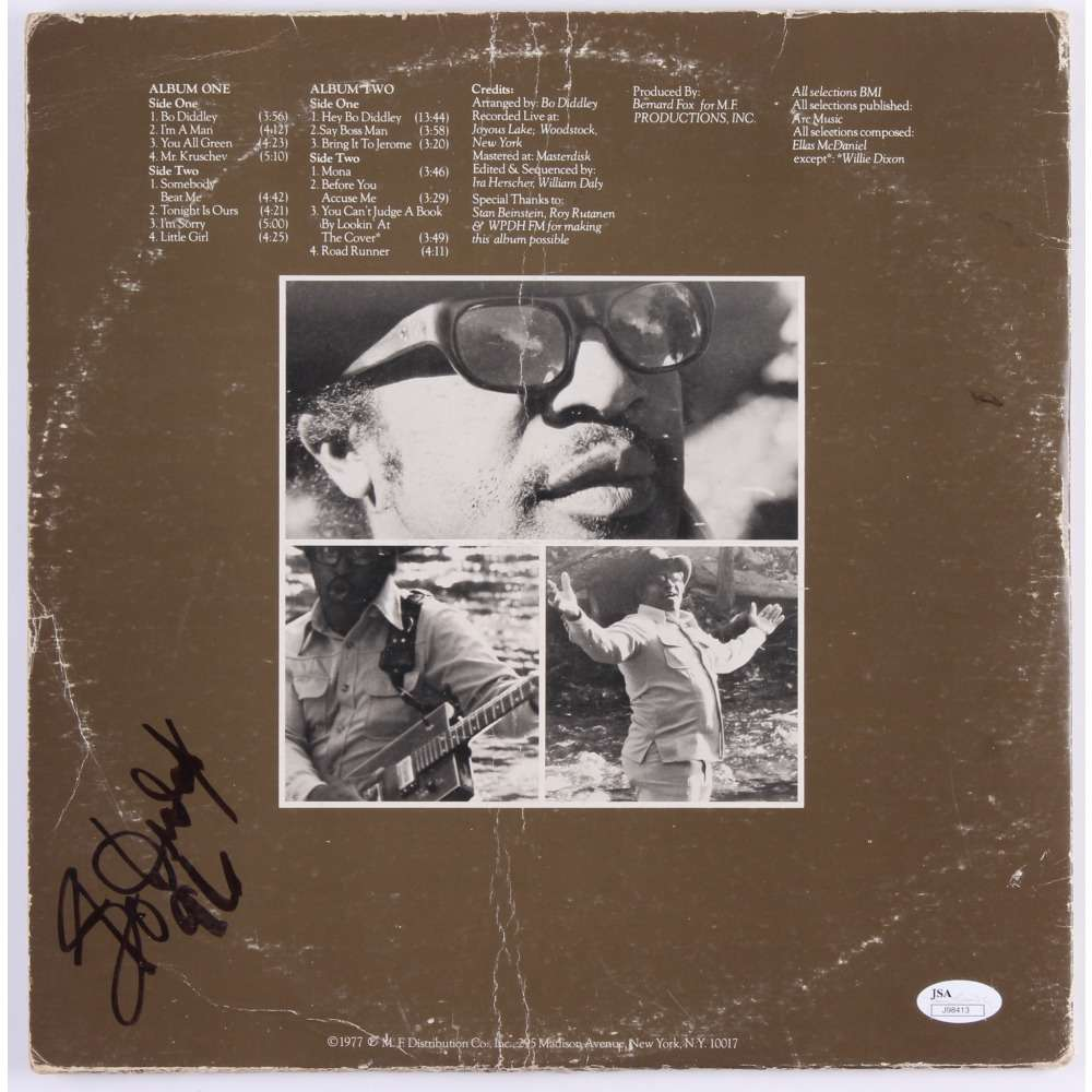 Bo Diddley - I'm A Man - 2xLP Album (double album) Photograph -set in person, Signed memorabilia (COA)