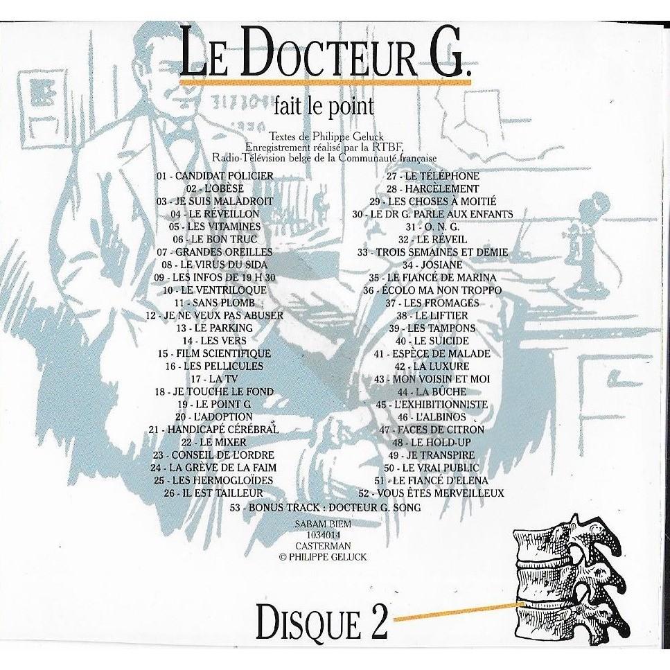 Philippe Geluck Le Docteur G. Fait Le Point (Disque 2)